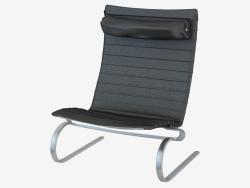 Крісло в шкіряній оббивці з підголовником PK20