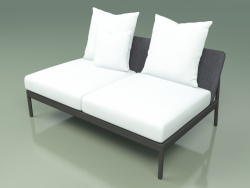 Central sofa module 006 (Metal Smoke, Batyline Gray)