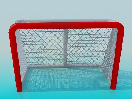 3d model Puerta de hockey - vista previa