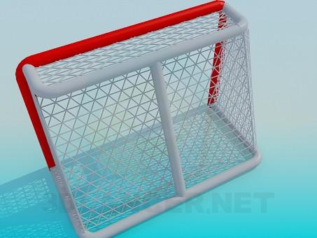 3d модель Ворота хоккейные – превью