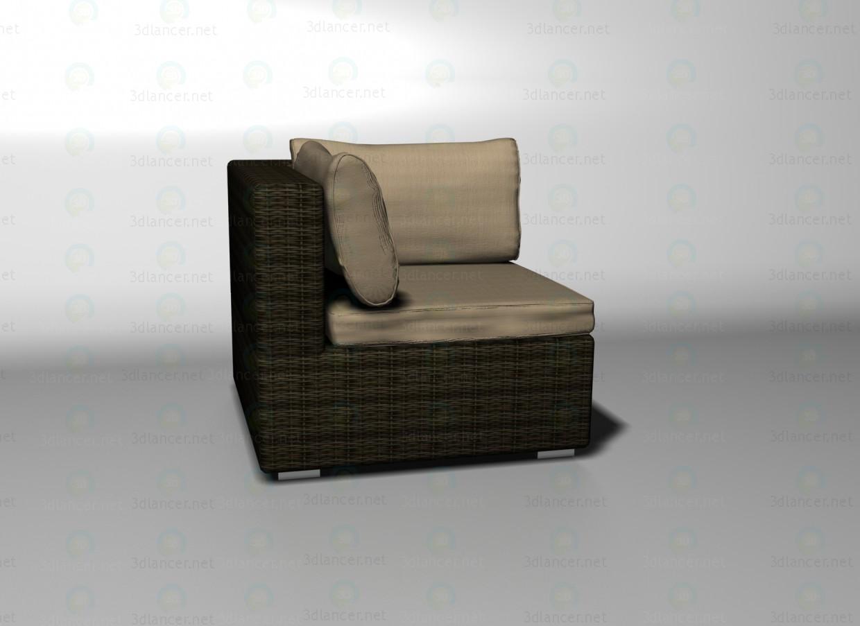 3d модель Sahara кутовий елемент дивана – превью