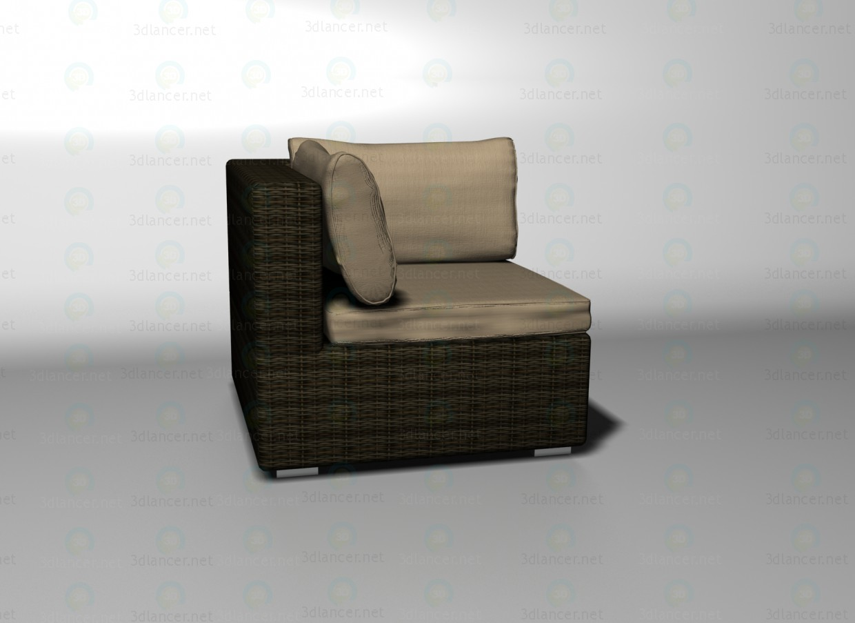 3d model Sahara sofa corner unit - preview