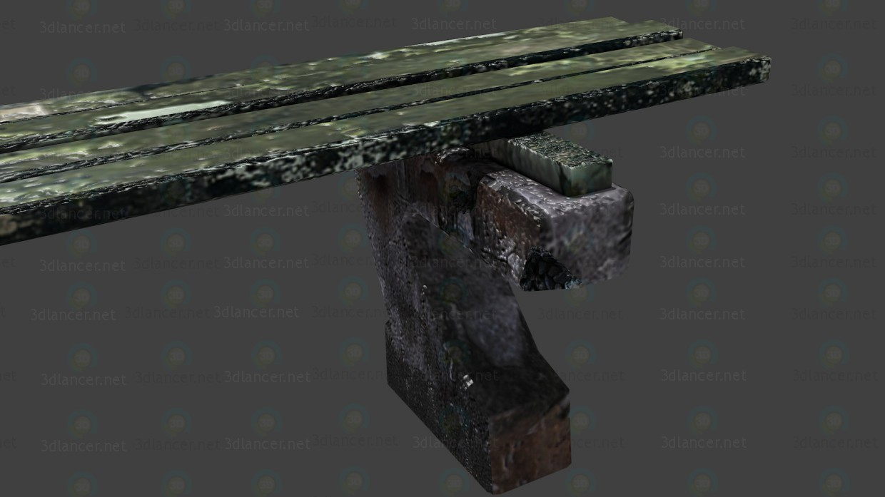 3d Bench model buy - render