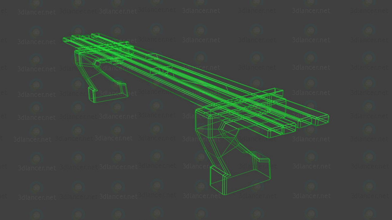 Banco de  3D modelo Compro - render