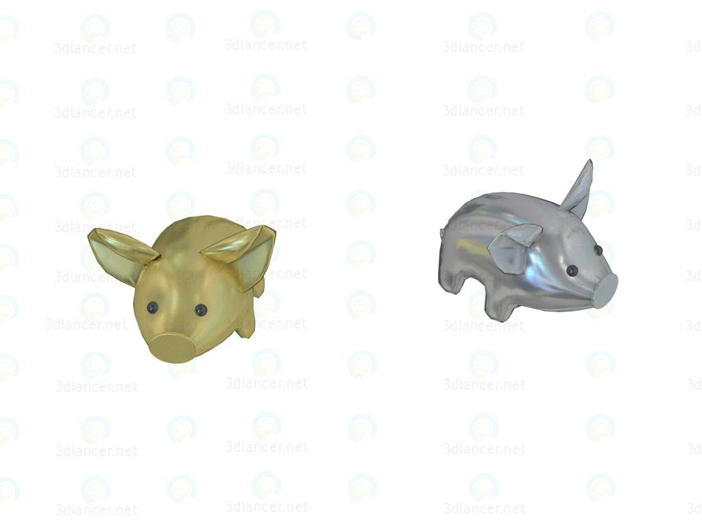 3d модель Подушки Pig Aquarama маленькие – превью