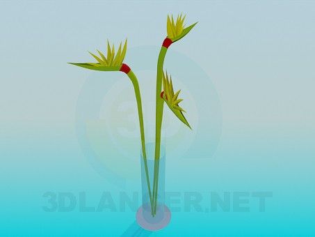 3d model Bouquet in a Vase - preview