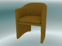 Dining chair, office Loafer (SC24, H 79cm, 57x59cm, Velvet 5 Amber)