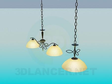 descarga gratuita de 3D modelado modelo Conjunto de lámpara y lámpara
