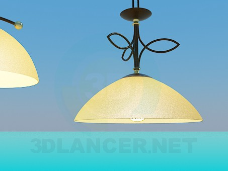modelo 3D Conjunto de lámpara y lámpara - escuchar