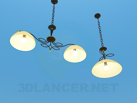 3d model Chandelier and lamp set - preview