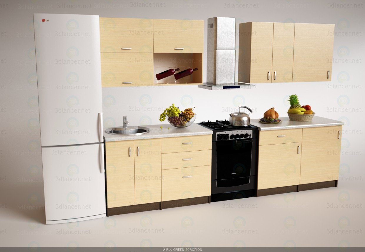 3d Kitchen model buy - render