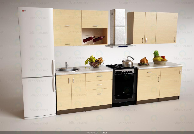 3d Кухня модель купить - ракурс
