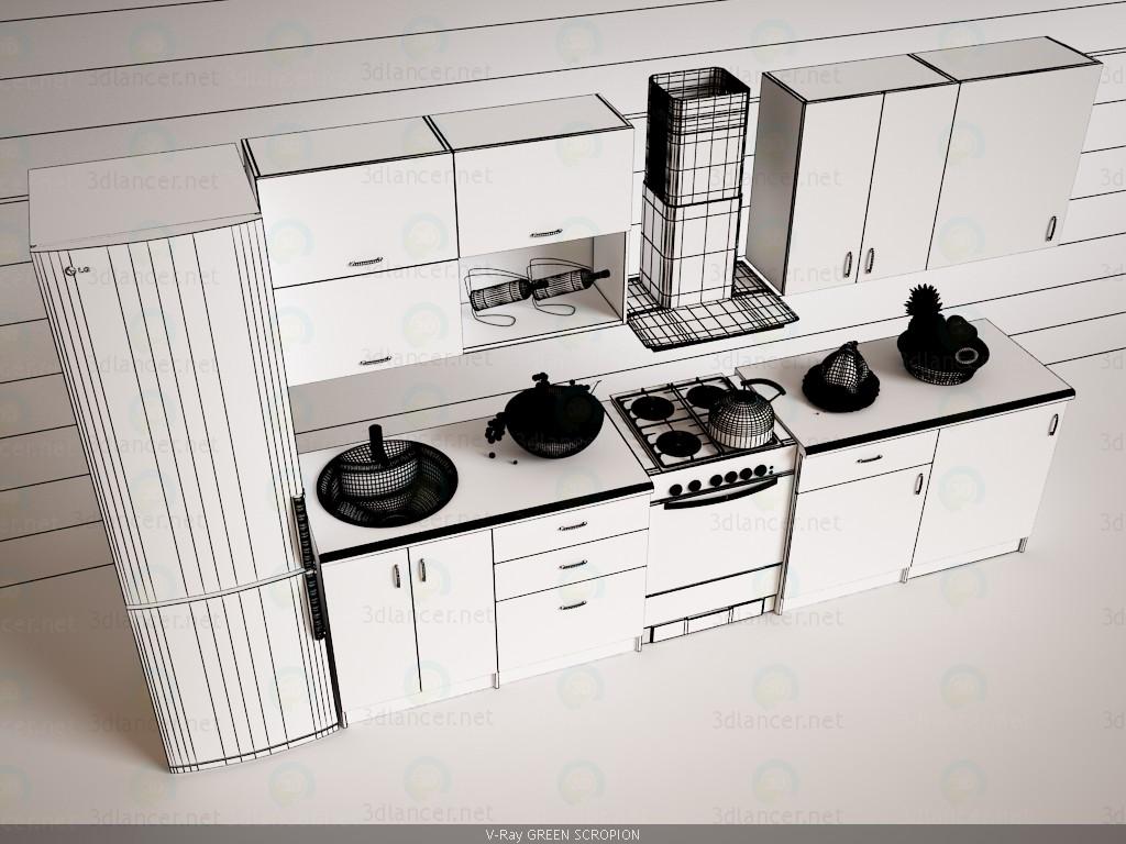 Cocina 3D modelo Compro - render