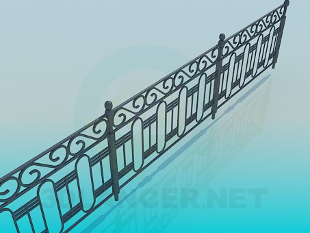 3d model Fence - preview