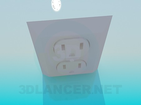 3d model Double socket - preview