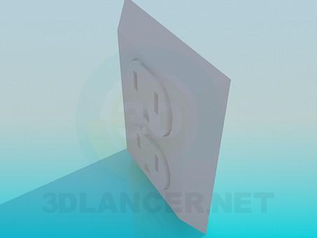 modelo 3D Zócalo doble - escuchar