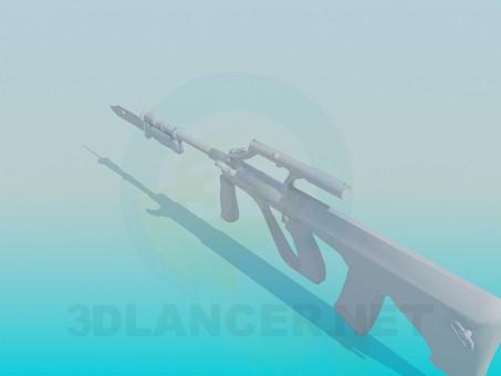 modelo 3D Subfusil ametrallador - escuchar