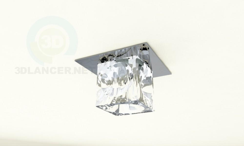 """3d модель Точечный светильник """"квадра"""" – превью"""