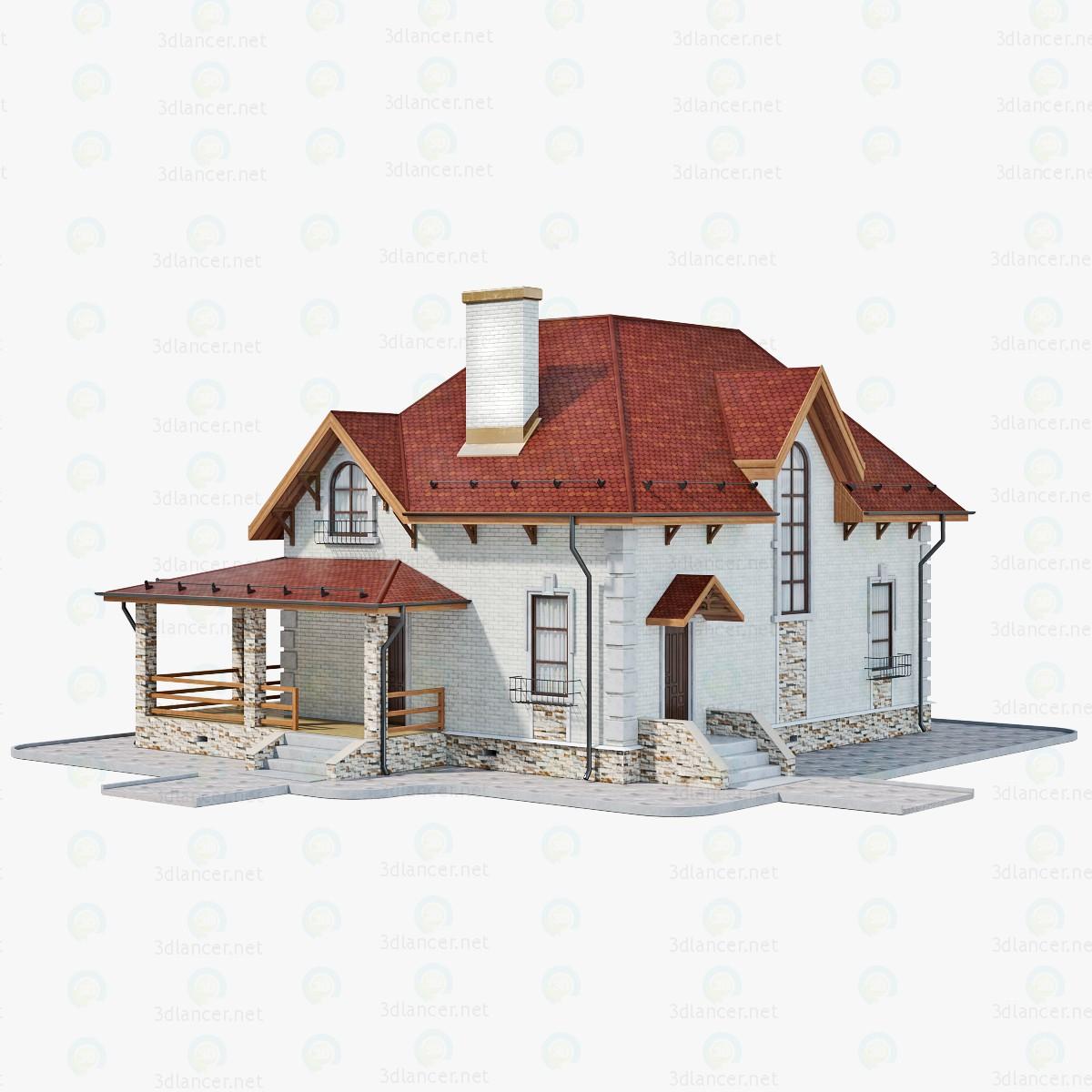 Casa ladrillo - 1 3D modelo Compro - render