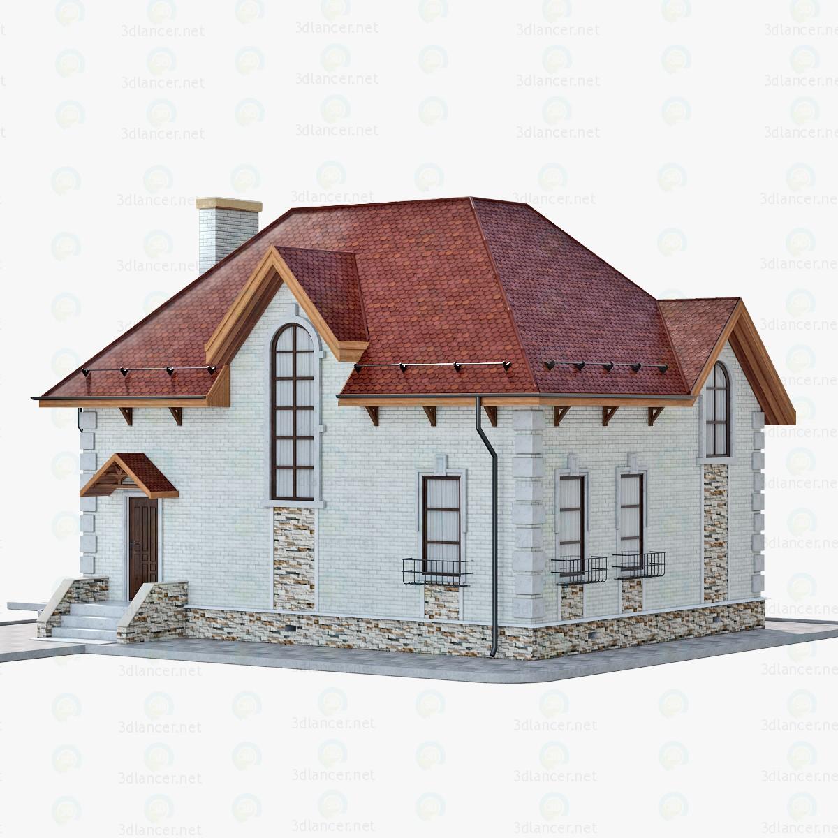 3d Model House Brick 1