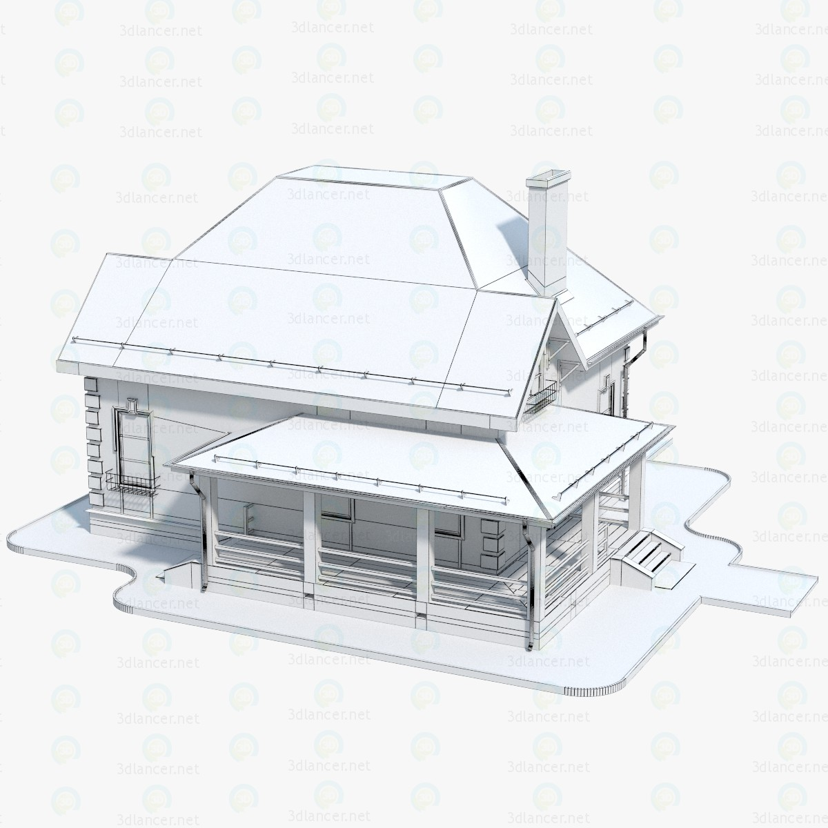 3d  House Brick - 1  model buy - render