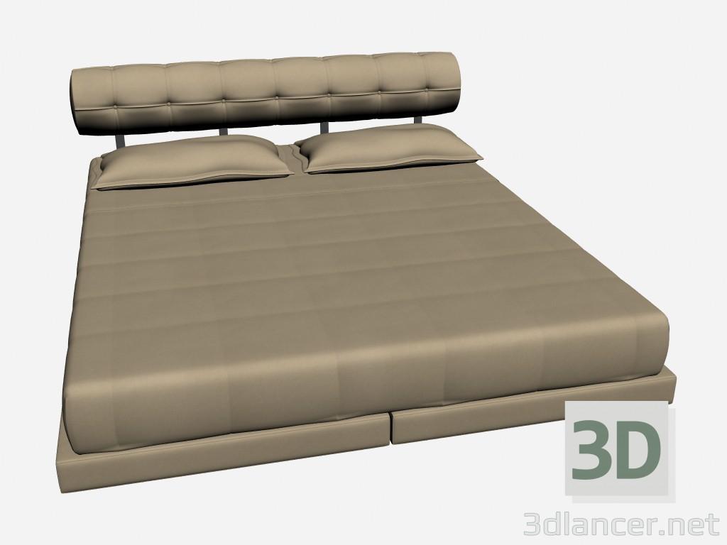 3d модель Кровать двуспальная MOVIE – превью
