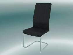 Chaise en porte-à-faux avec dossier haut