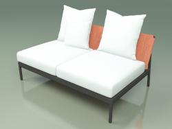 Central sofa module 006 (Metal Smoke, Batyline Orange)