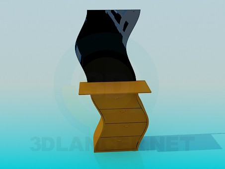 3d моделирование Волнистое трюмо модель скачать бесплатно