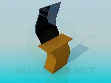 3d модель Хвилясте трюмо – превью