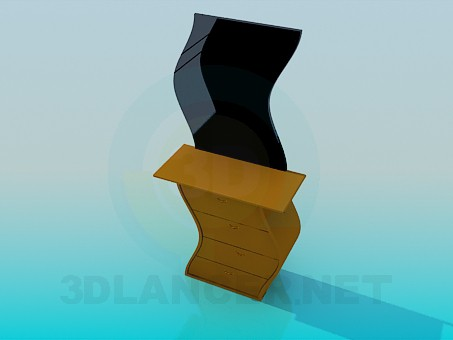 3d model Convex mirror - preview
