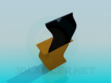 3d модель Волнистое трюмо – превью