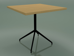 Square table 5755 (H 74.5 - 80x80 cm, Natural oak, V39)