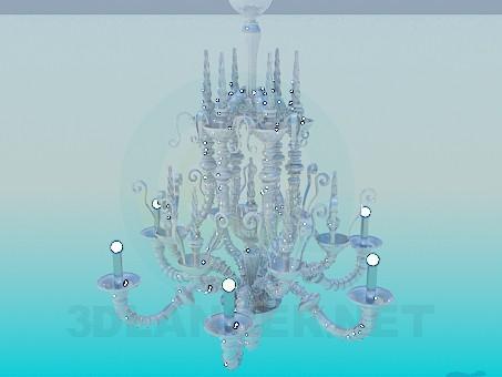 modelo 3D Lámpara de cristal - escuchar