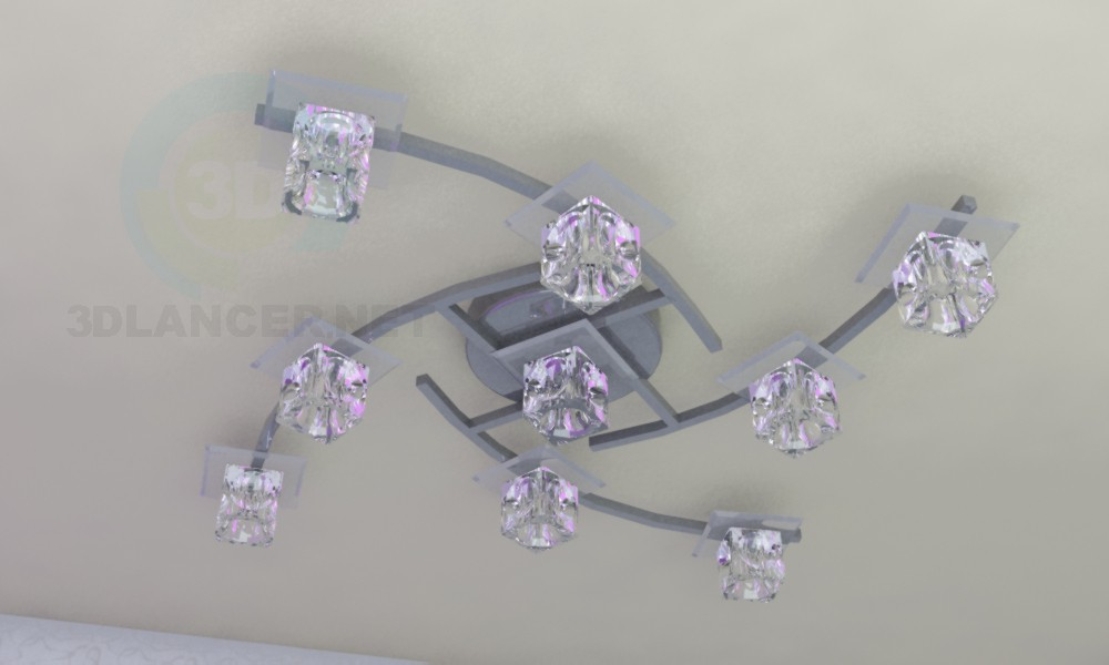 "3d model Chandelier ""Quadra"" - preview"