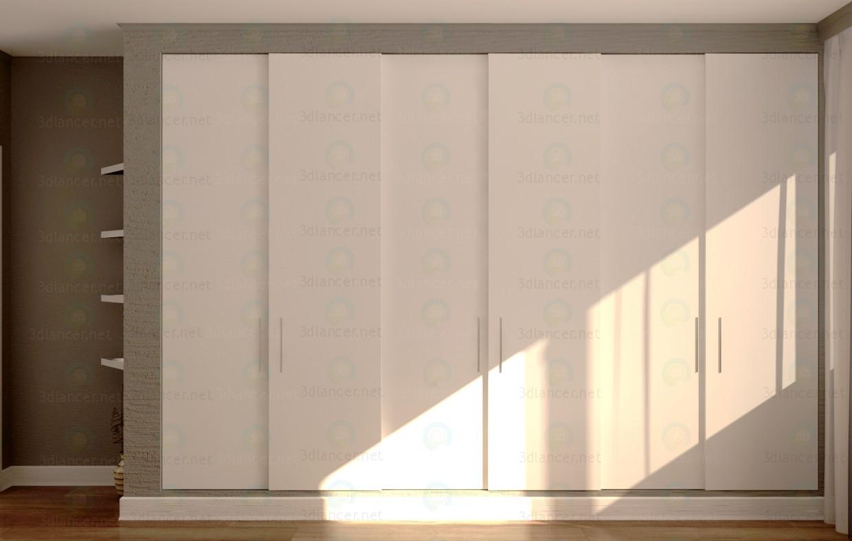 3d model 600x4000x2700mm armario animado - vista previa