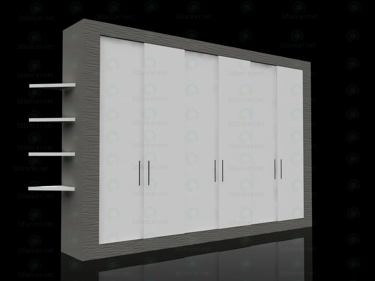 3d model Wardrobe animated 600x4000x2700mm - preview