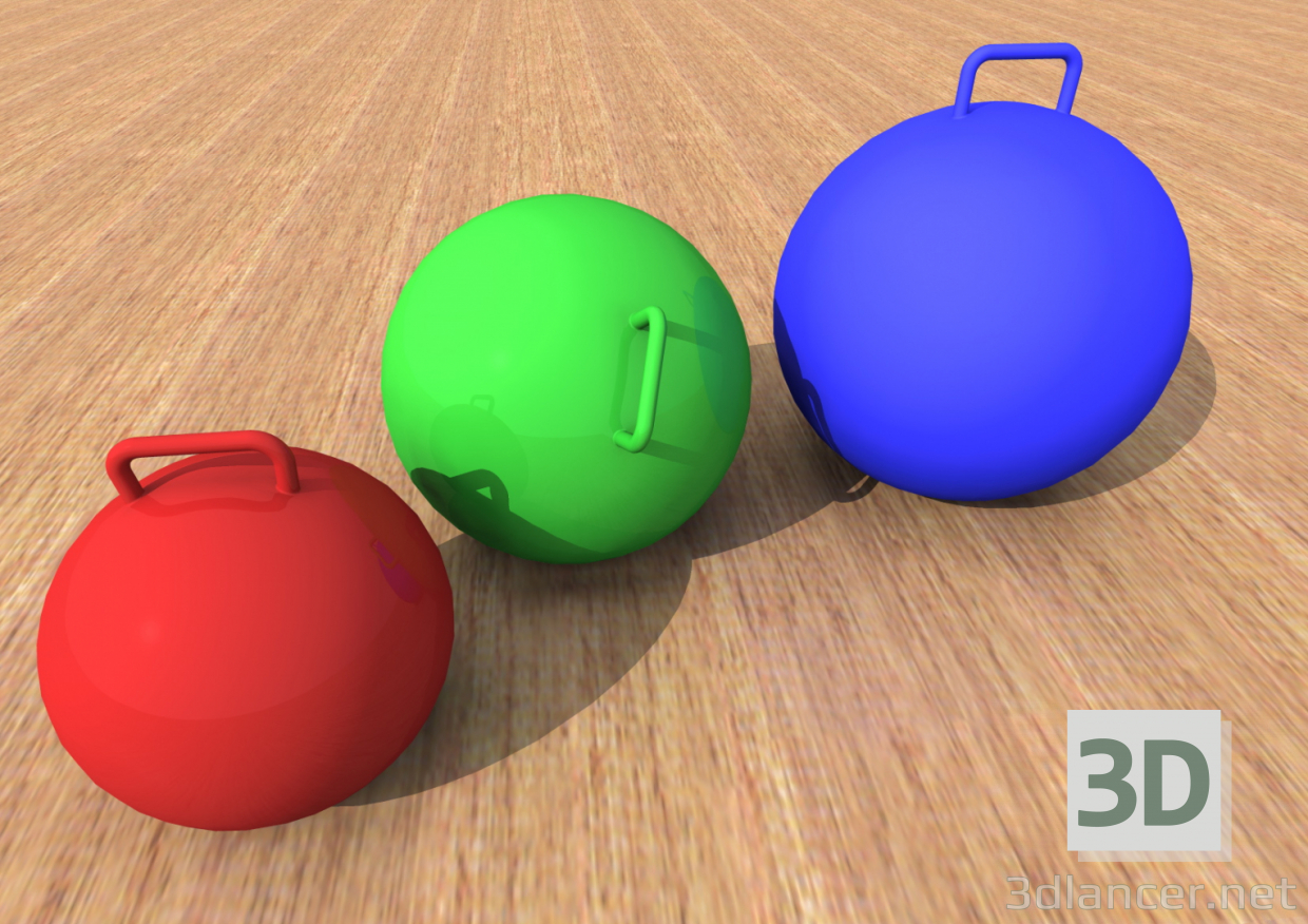 3d Fitball. fitness ball model buy - render