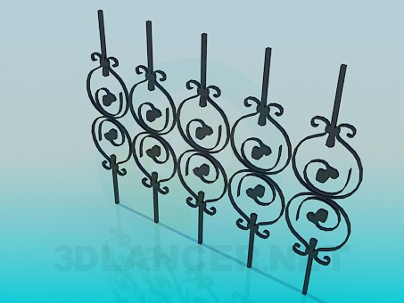 3d model Element of the fence - preview