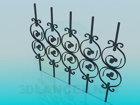descarga gratuita de 3D modelado modelo Elemento de la valla