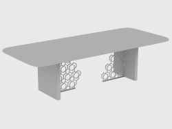 Mesa de jantar EXCELSIOR TABLE RIBBING (280X110XH75)