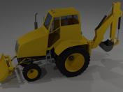 Tractor (+ cuchilla, cubo, remolque)