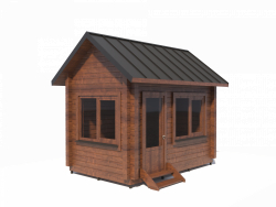 wooden house made of profiled beam h3,9x4x2,5 m