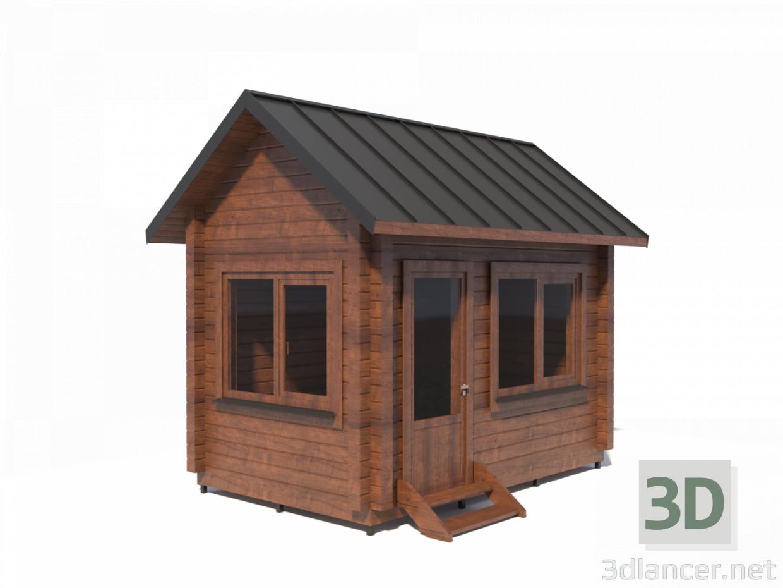 Modelo 3d Casa De Madera De Viga Perfilada H3 9x4x2 5 M