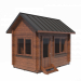 3d wooden house made of profiled beam h3,9x4x2,5 m model buy - render
