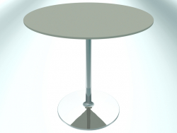 Table de restaurant ronde (RR20 Chrome G3, Ø800 mm, H740 mm, base ronde)