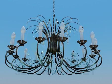3d model A large chandelier - preview