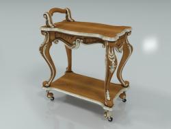 Carved tea trolley (art. 12659)