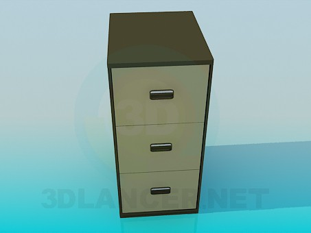 3d model Vertical cabinet - preview