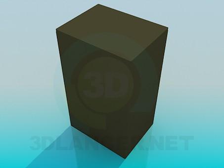 3d модель Вертикальна тумба – превью